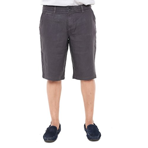 Twist Men's Regular Fit Linen Shorts Coffee Brown  available at amazon for Rs.499