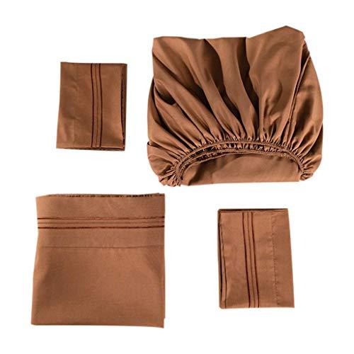 eliaSan Dovet Cover Set 1PC Sheets 1PC Matratze 1Pcs Kissenbezug Solid Color Bestickte Bettwäsche Set - 180X200X40cm