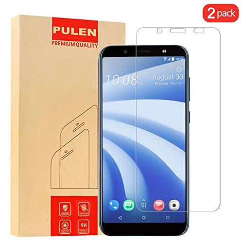 PULEN [2 Pack] HTC U12 Life Panzerglas Schutzfolie, 9H Hartglas Glas Bildschirm schutzfolie [Anti-Kratzen] [Bubble-frei][Fingerabdruck-frei] hochwertigem Gehärtetem Folie for HTC U12 Life