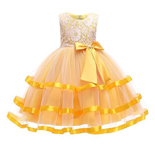 Beikoard Mädchen Baby Kleid Kuchen Kleid Prinzessin Wedding Performance - Tutu-Kleid Taufbekleidung Cocktailkleid Partyskleid Maxi Kleid Hochzeits Blumenmaedchenkleid