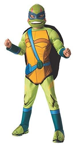 Leonardo Kostüm Deluxe Ninja Kind - Rubie's The Teenage Mutant Ninja Turtle Leonardo Deluxe Kids Fancy Dress Costume Medium