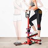 Cocoarm 4in1 Stepper Fitness Ministepper mit Handgriff und LCD-Display Multifunktionale Fitnessgeräte mit Power Ropes Stepper Hantel Verdreht Taillen-Diskette