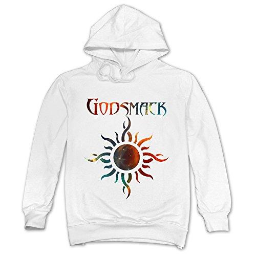TIKE Fashions Tike Herren Die Godsmack IV Band Kapuzen Sweatshirt, Herren, Weiß, L