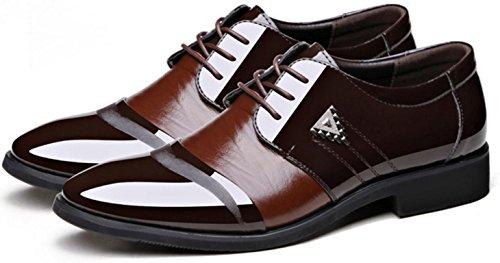 HYLM HYLM per uomo scarpe oxford Più le scarpe da sposa taglia Scarpe Stringate Uomo Brown