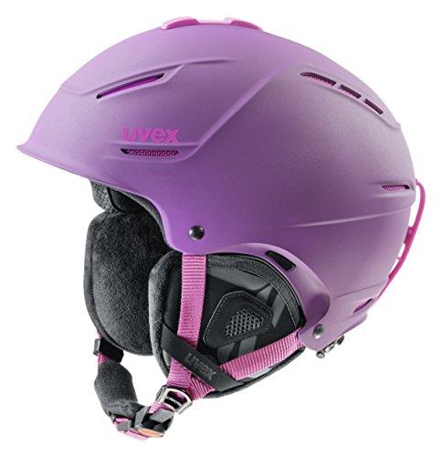 UVEX Damen Skihelm p1us pro WL, Purple/Pink Mat, 52-55 cm, S5661799003