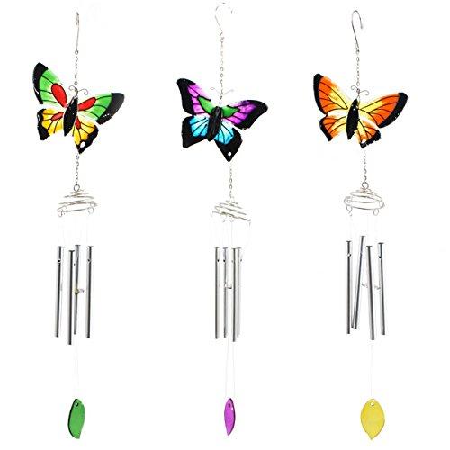 Carillon papillon coloré