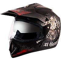 Off Road D/V Gangster Dull Black Red Helmet-M