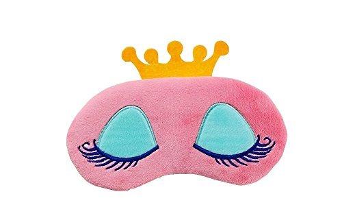 1PCS Baumwolle Nette Wimpern Crown Design Schlafmaske Augenmaske Augenklappe Nacht Augenbinde Eyeshade mit verstellbaren Elastischen Gurt für Männer Frauen Reise Schlaf Verwenden (farbe Zufällig) -