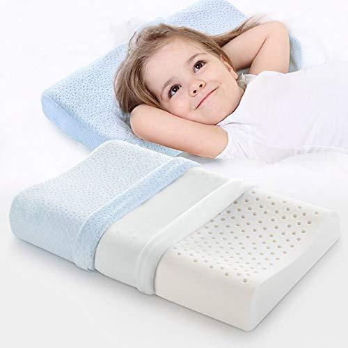 SQL Niños 100% Almohada de látex para el Apoyo del Cuello, Contorno ergonomico Almohada para niños...