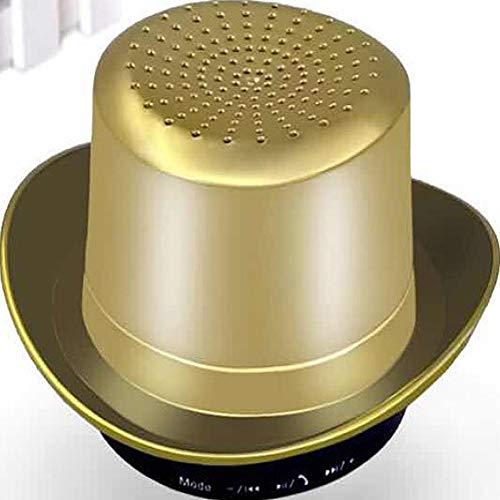 qiyanCowboy Hut Bluetooth Audio Karte drahtloser Mini Bluetooth Lautsprecher bewegliches kreatives Geschenk Gold Bazooka Home-audio-subwoofer