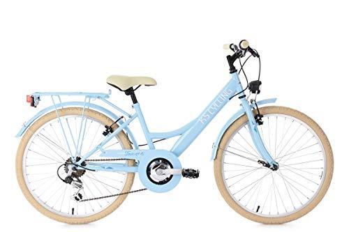 KS Cycling Mädchen Fahrrad Kinderfahrrad Beachcruiser Cherry Blossom, Weiß, 24, 635K