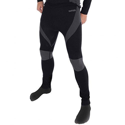 Oxford capas, capa base de punto térmico, pantalones de motocicleta–negro