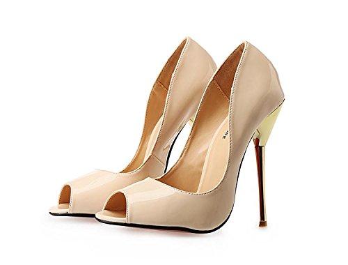 HeiSiMei Frauen High Heels / Stiletto Fersen / super hohe Sandalen / Fisch Mund Schuhe / offene Zehe / Nightclub / Party & Abend / Herren / Unisex BEIGE-EU41