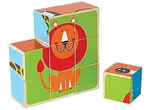 Hape HAP-E0421 Zoo Animals Block Puzzle