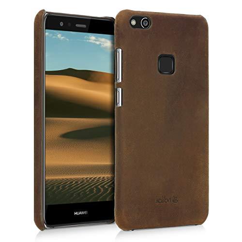 kalibri Huawei P10 Lite Hülle - Leder Handy Cover Case - Hardcover Schutzhülle für Huawei P10 Lite -