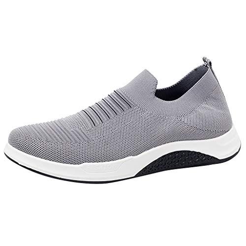 Hffan Herren Sportschuhe Laufschuhe Sneaker Atmungsaktiv Leichte Wanderschuhe Trainers Schuhe Männer Air Turnschuhe Running Fitness Outdoors Straßenlaufschuhe Kletterschuhe