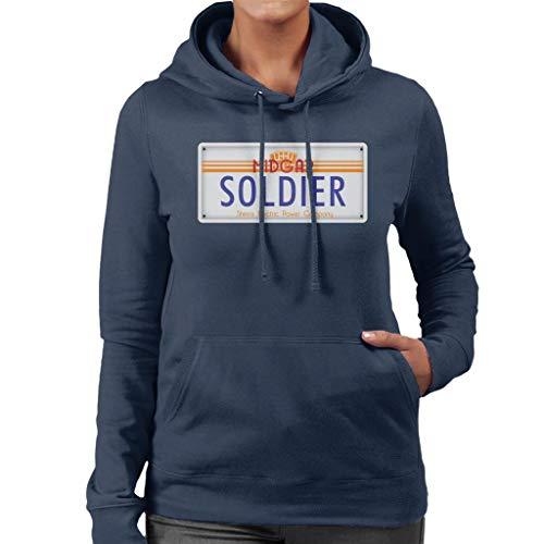 Cloud City 7 Final Fantasy Midgar Soldier License Plate Women's Hooded Sweatshirt