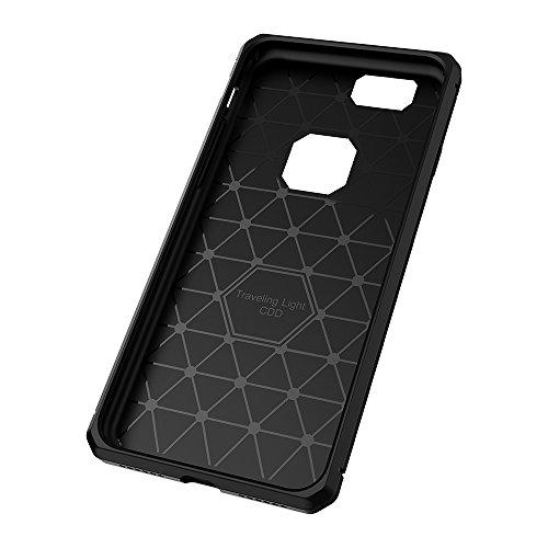 "Coque Gel iPhone 6, KATUMO Coque Silicone Transparent Case Cover pour Apple iPhone 6/iPhone 6s 4.7"" Etui Housse de Protecion Bumper-Violet Noir"