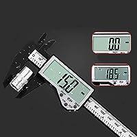 BXU-BG Pantalla electrónica digital vernier de IP54 a prueba de agua Splash herramienta de medición del calibrador de plástico (Tamaño: 0-150mm)
