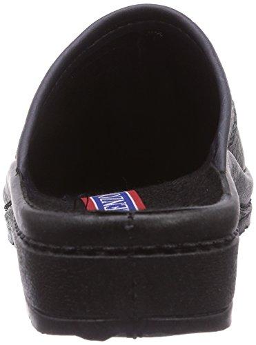 Gevavi  6853 Herrenpantoffel ANTRAC., Pantoufles non doublées hommes Noir - Schwarz (schwarz(zwart) 06)