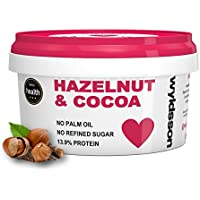 Hazelnut & Cocoa Nut Butter. 500g. No Added Sugar. No Palm Oil. 14% Protein. Dairy Free. Vegan. Chocolate Spread.