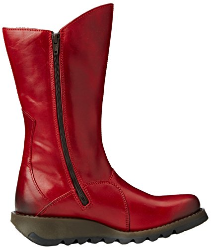 FLY London Mes 2, Bottes Hauts Femme Rouge (Red 001)