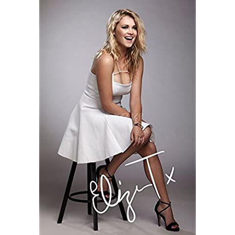 SIGNED PHOTO PRINT ELIZA TAYLOR, BORSE, 30,48 20,32 CM X 8 X (12