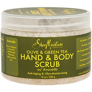 SHEA MOISTURE Olive/Green Tea Body Scrub Anti-Aging/Ultra-Moisturizing