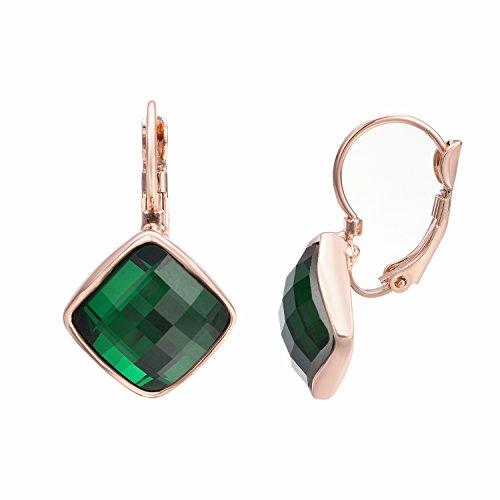 yoursfs-square-emerald-crystal-leverback-dangle-earrings-women-deep-green-stone-drop-earrings-for-pr