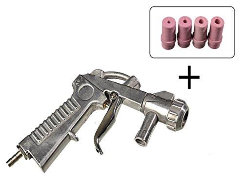 MS Sandstrahlpistole mit 4 Aufsätzen