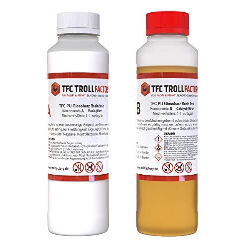 TFC PU Giessharz Resin 9 Min. I Zweikomponenten-Giessmasse, beige I dünnflüssig, 0,5 kg (2 x 250 g) -