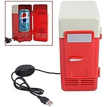 FINLON Mini USB refrigerador enfriador calentador de bebidas latas refrigerador/nevera portátil PC