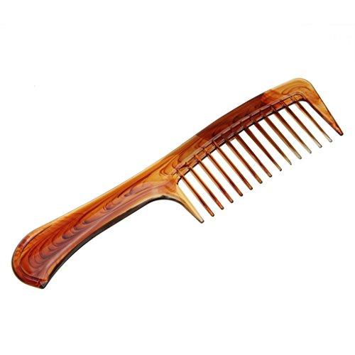 Peigne Cheveux Bouclés Peigne Cheveux Femme Dents Larges Peigne Antistatique Coiffure des Cheveux Coiffure Coiffeur Salon Professionnel