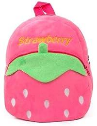 Frantic Premium Quality Soft Pink Strawberry Velvet Plush Bag for Kids 6394caf212