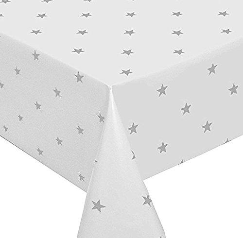 Sterne rot weiß Tischdecke Wachstuch, abwischbar, Vinyl PVC auf Größe geschnitten, Polka Dot Rot 500_x_140_cm rot Rot Polka Dot Tischdecke
