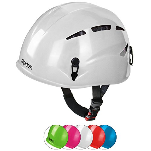 Alpidex casco universale per arrampicata e alpinismo argali kid in molti colori diversi moderni, colore:bright white