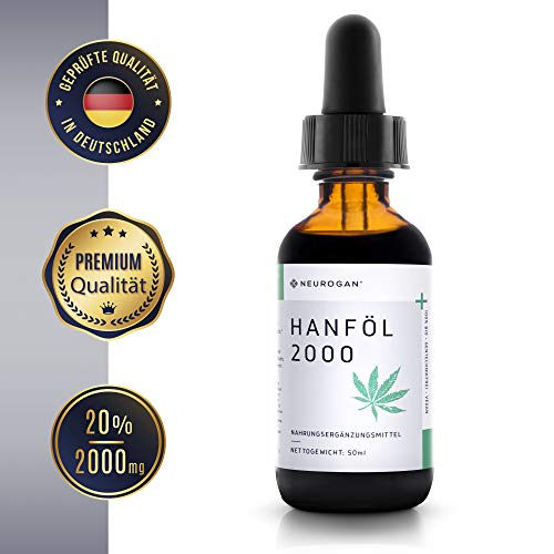 NEUROGAN´s 2000 MG Hanföl/gesund, natürlich, vegan, glutenfrei - Mint-Geschmack (50ml)