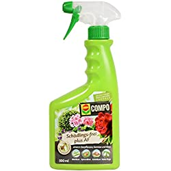 COMPO Schädlings-frei plus AF, Bekämpfung von Schädlingen an Zierpflanzen, Gemüse und Obst, Anwendungsfertig, 500 ml