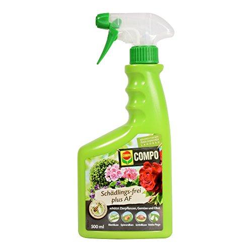 COMPO Schädlings-frei plus AF, Bekämpfung von Schädlingen an Zierpflanzen, Gemüse und Obst, Anwendungsfertig, 500 ml (Spray Spülmittel)