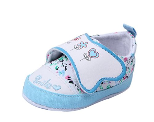 Smile YKK Klettverschluss Babyschuh Baby Mädchen Lauflernschuhe 13 Blau Blau