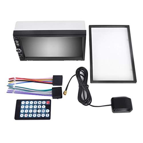 HermosaUKnight Mp5 7 Zoll 1080p-HD-Player für Autos mit schwarz-silberner GPS-Navigation zum Freisprechen -