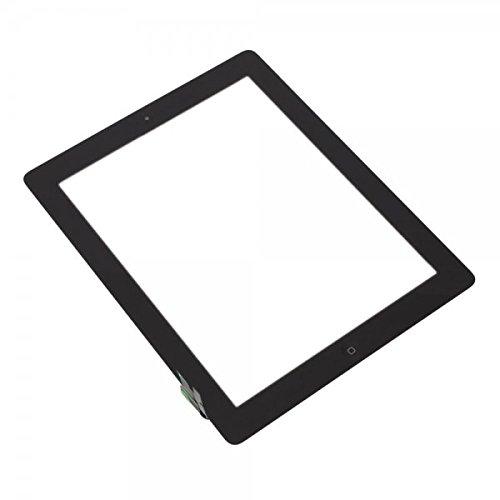 Smartex Pantalla Vidrio Tàctil Digitizer Negro Compatible con iPad 2- Adhesivo, Boton Home y Toolkit desmontaje incluidos en la confección