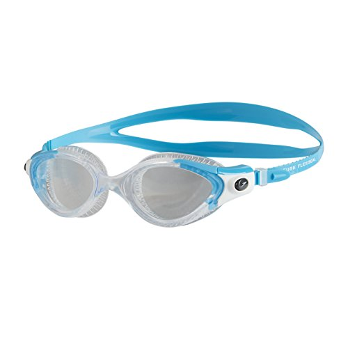 Speedo Damen Futura Biofuse Flexiseal Female Goggles, Turquoise/Clear, One Size