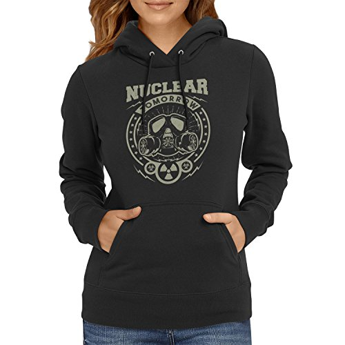 TEXLAB - Nuclear Tomorrow - Damen Kapuzenpullover, Größe M, schwarz