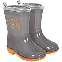 Botas de Agua para Niño y Niña - Botines Impermeables con Suela Antideslizante - De Colores