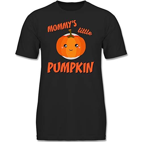 Anlässe Kinder - Mommys Little Pumpkin Halloween - 140 (9-11 Jahre) - Schwarz - F130K - Jungen Kinder T-Shirt