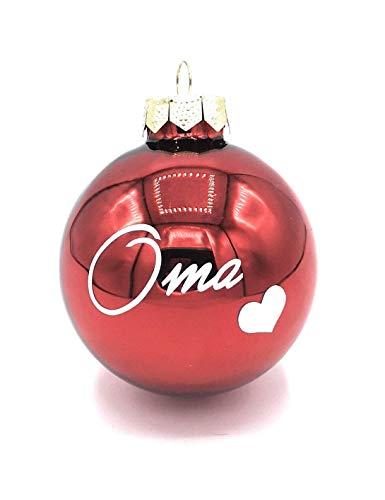 Christbaumkugeln Rot Glänzend.Weihnachtskugeln Mit Namen Personalisiert Jetzt Bestellen
