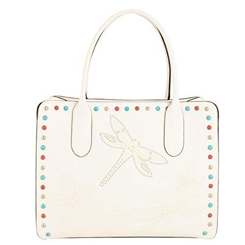 Tosca Blu , Sac pour femme à porter à l'épaule Blanc Bianco 28x34x15,5cm
