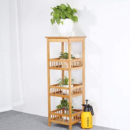 IU Desert Rose Étagère de balcon Pot de fleur de balcon de fleur de bambou de cadre de fleur d'usine de quatre niveaux Di play 100 * 33CM
