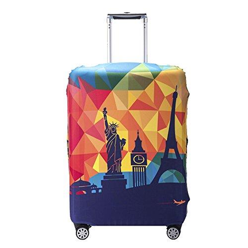 """Ezeso Coperture per valigie Cover Proteggi Valigia Elasticizzata Suitcase Cover Happy Travel XL (Fit 29""""-32"""" suitcase)"""